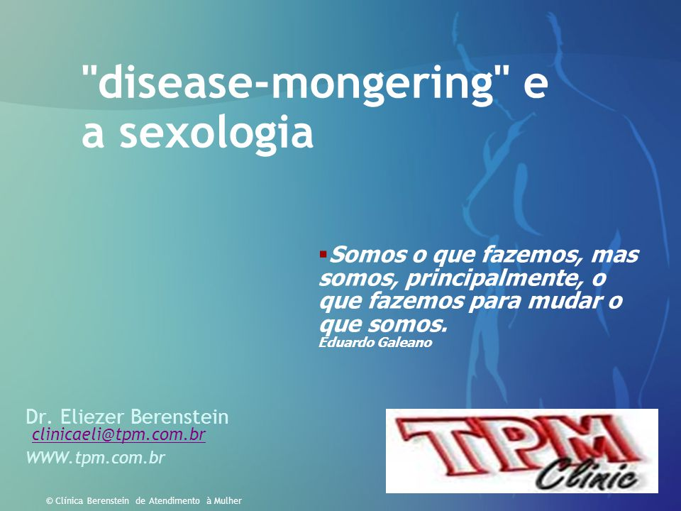disease-mongering e a sexologia