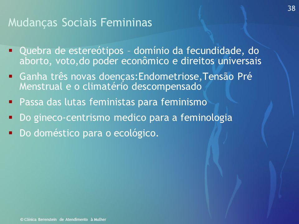 Mudanças Sociais Femininas