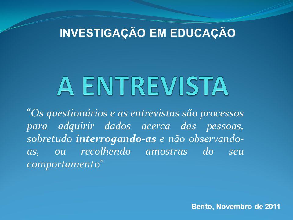 INVESTIGAÇÃO EM EDUCAÇÃO