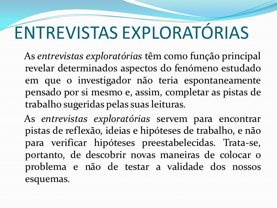 ENTREVISTAS EXPLORATÓRIAS