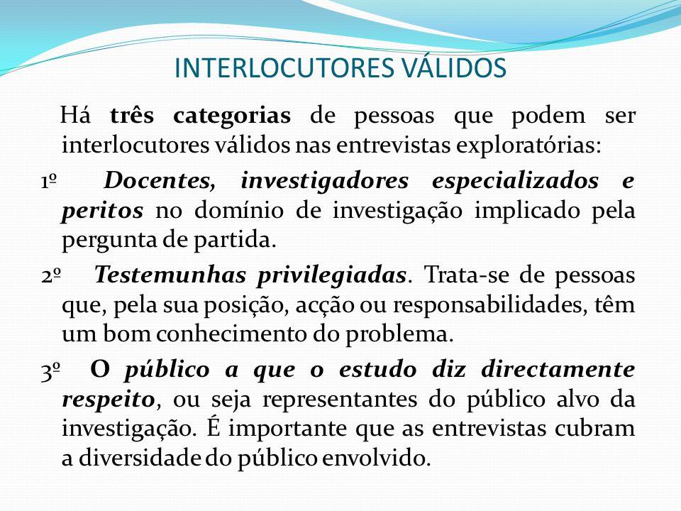 INTERLOCUTORES VÁLIDOS