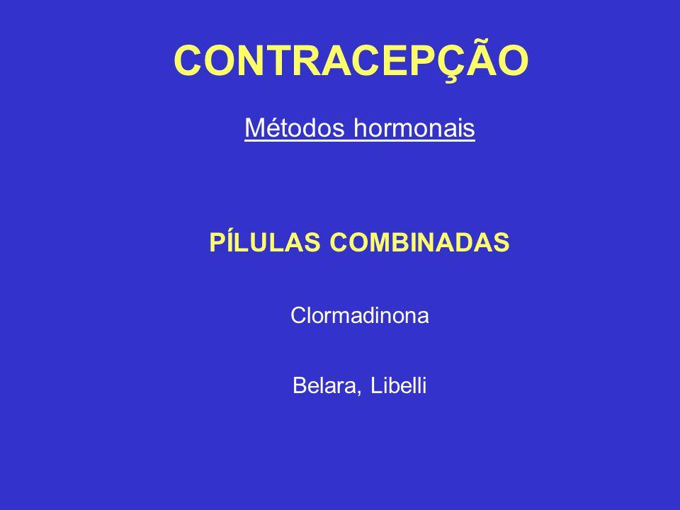 Métodos hormonais PÍLULAS COMBINADAS Clormadinona Belara, Libelli