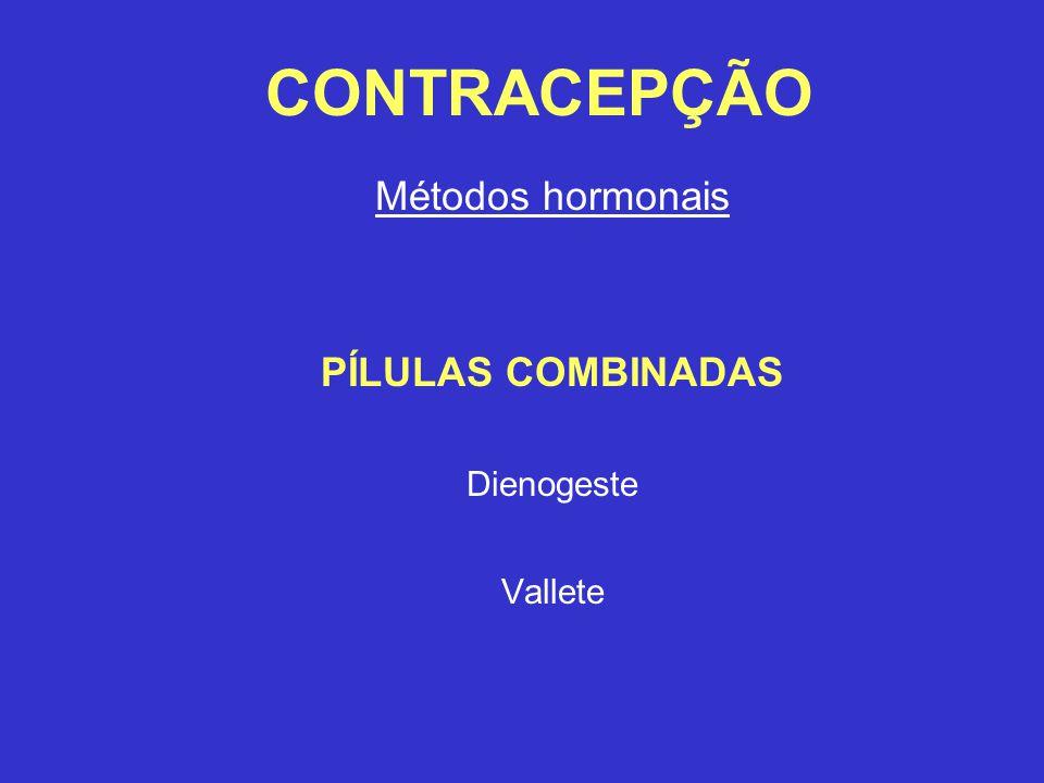Métodos hormonais PÍLULAS COMBINADAS Dienogeste Vallete