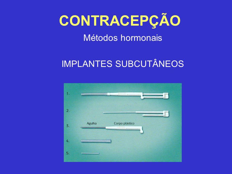Métodos hormonais IMPLANTES SUBCUTÂNEOS
