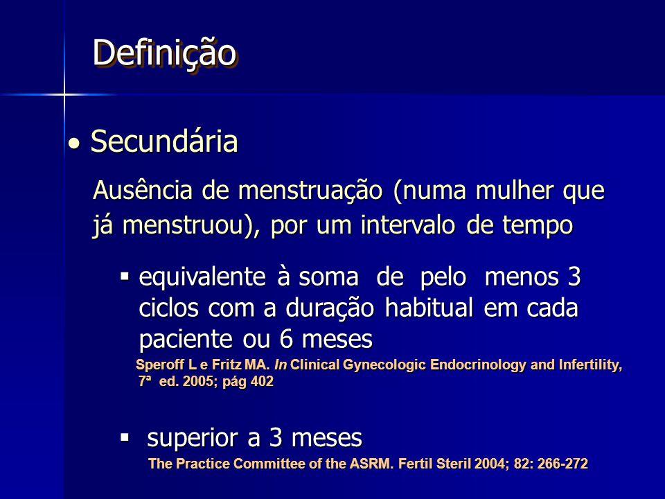 Definição  Secundária