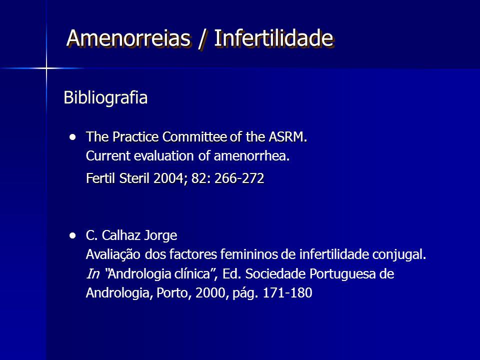 Amenorreias / Infertilidade