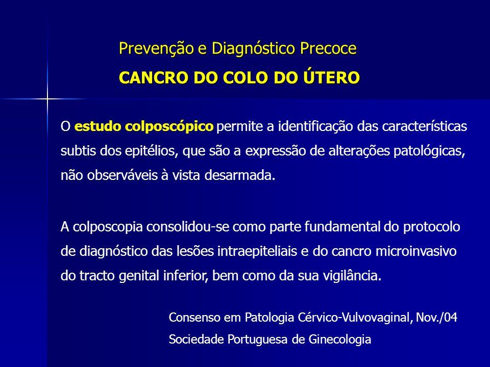 Prevenção e Diagnóstico Precoce CANCRO DO COLO DO ÚTERO