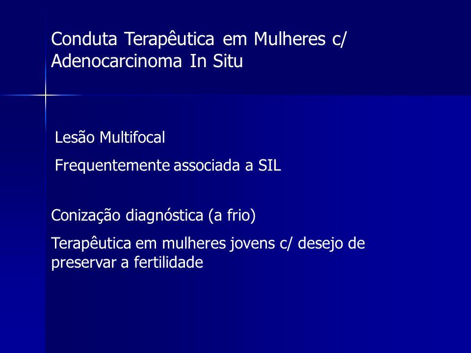 Conduta Terapêutica em Mulheres c/ Adenocarcinoma In Situ