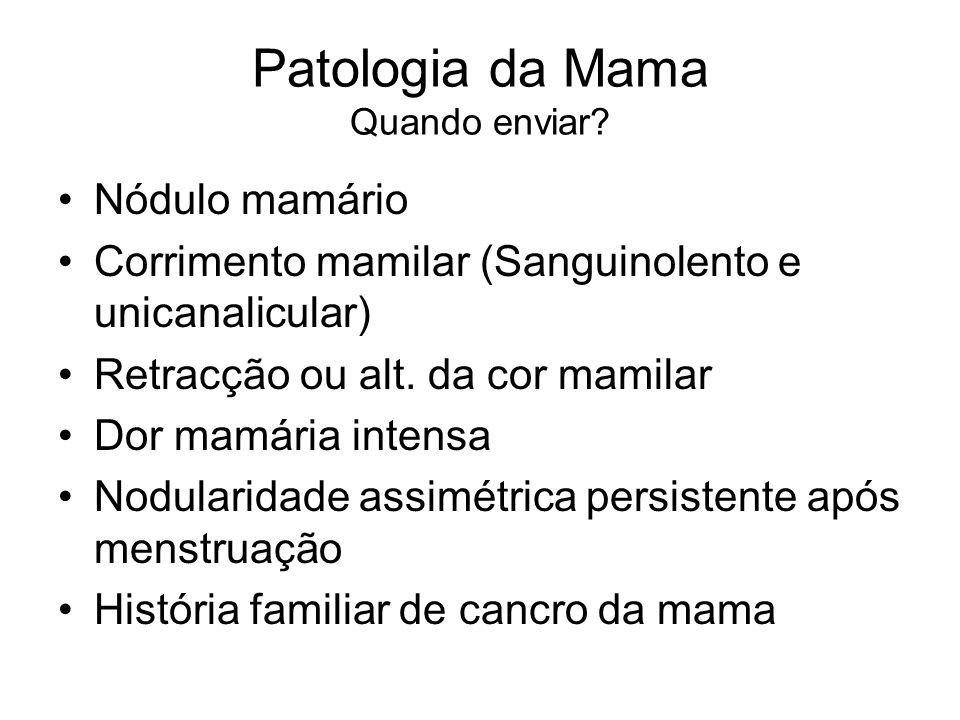 Patologia da Mama Quando enviar