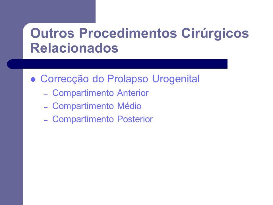 Outros Procedimentos Cirúrgicos Relacionados
