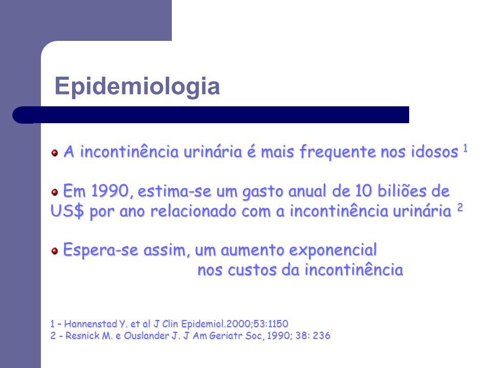 Epidemiologia A incontinência urinária é mais frequente nos idosos 1
