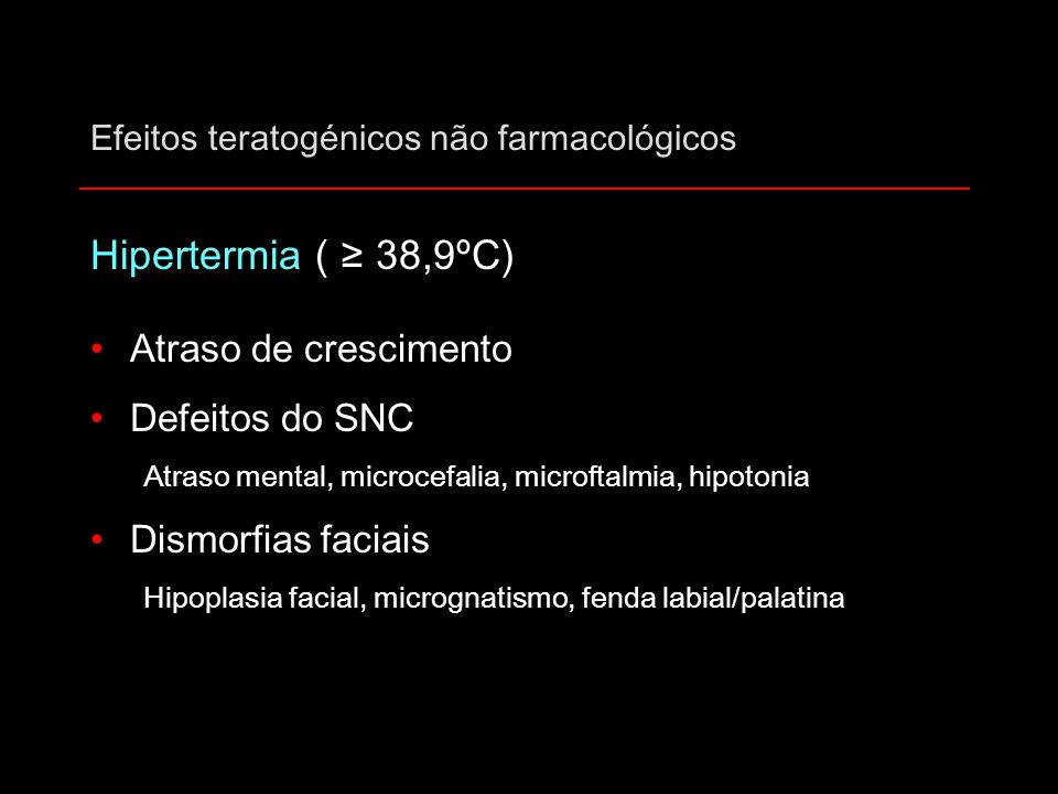 Efeitos teratogénicos não farmacológicos