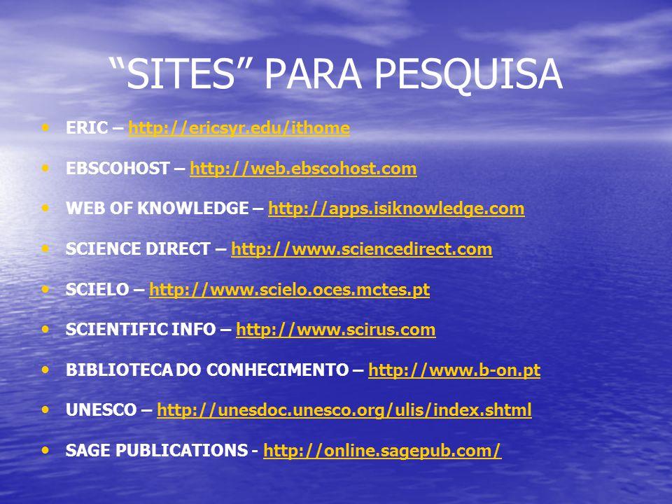 SITES PARA PESQUISA ERIC – http://ericsyr.edu/ithome