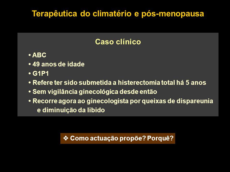 Terapêutica do climatério e pós-menopausa
