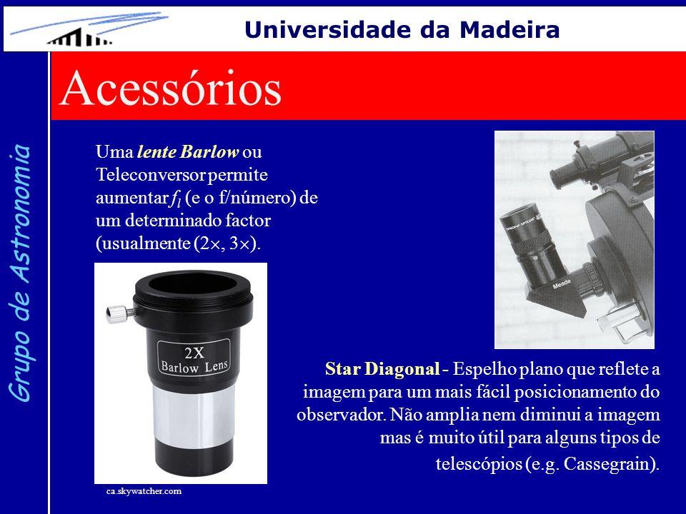 Acessórios Grupo de Astronomia Universidade da Madeira