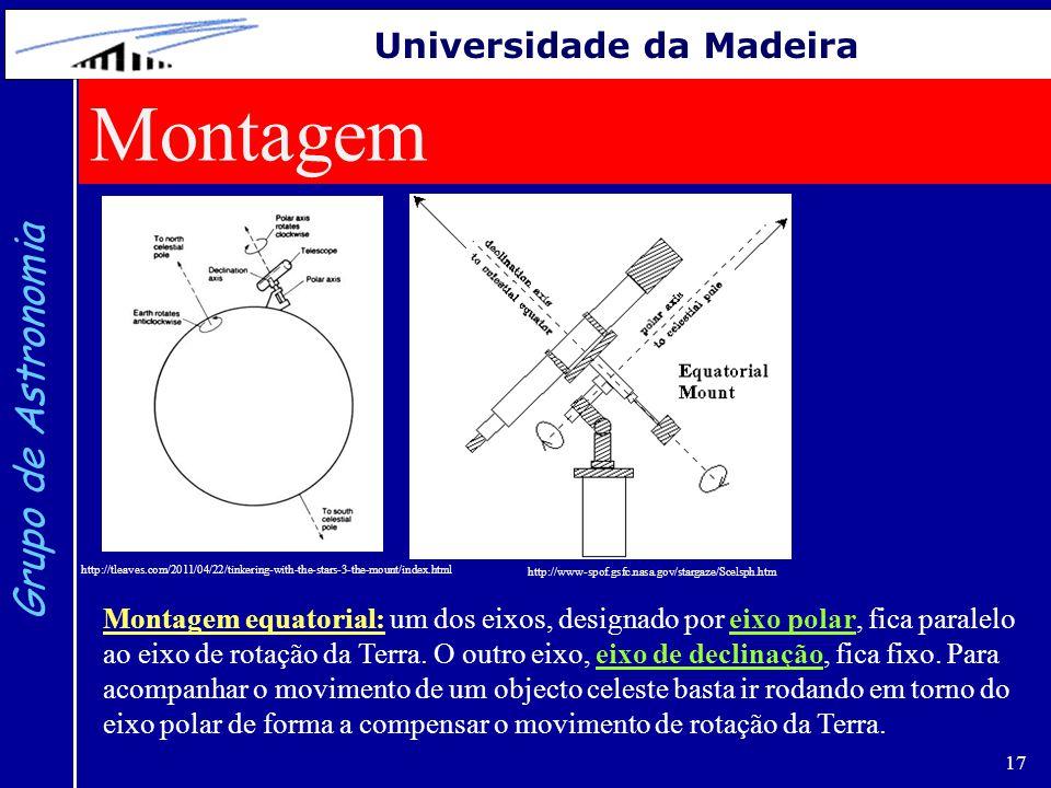 Montagem Grupo de Astronomia Universidade da Madeira