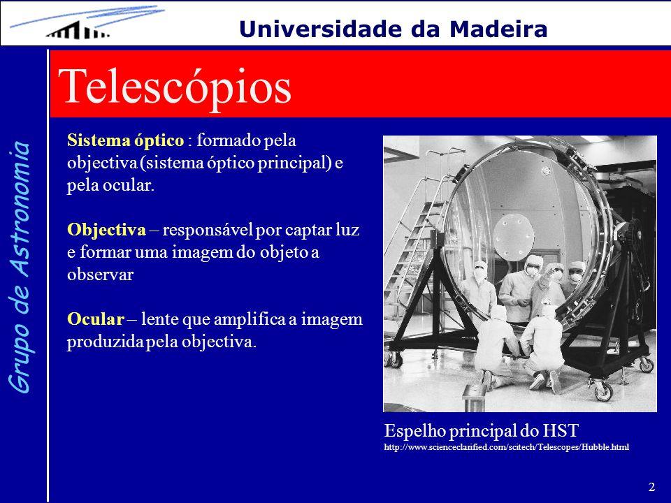 Telescópios Grupo de Astronomia Universidade da Madeira