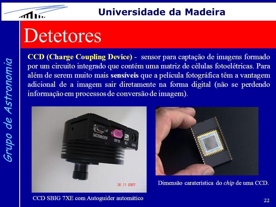 Detetores Grupo de Astronomia Universidade da Madeira