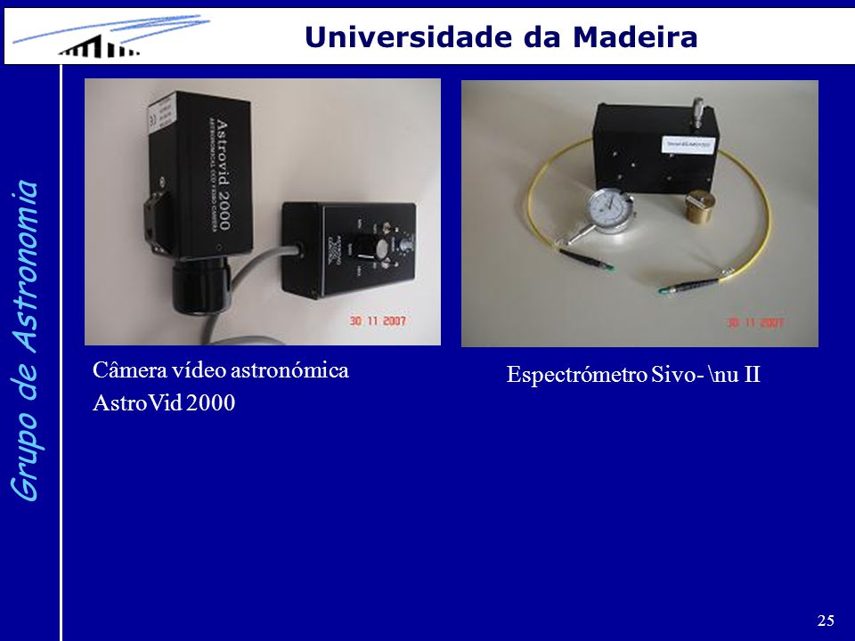 Grupo de Astronomia Universidade da Madeira Câmera vídeo astronómica