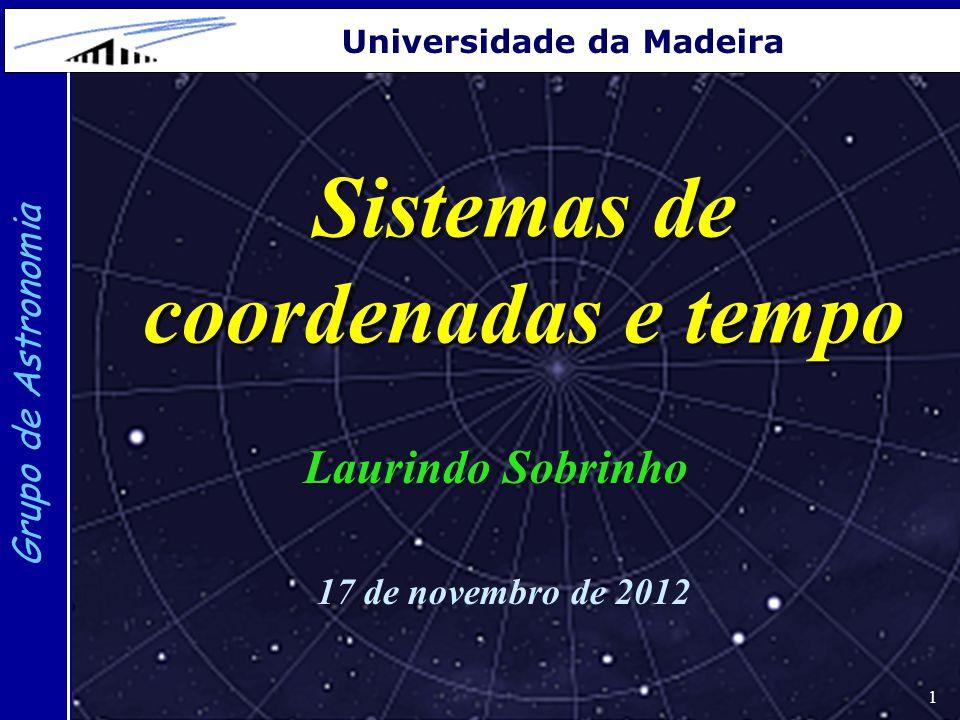 Sistemas de coordenadas e tempo