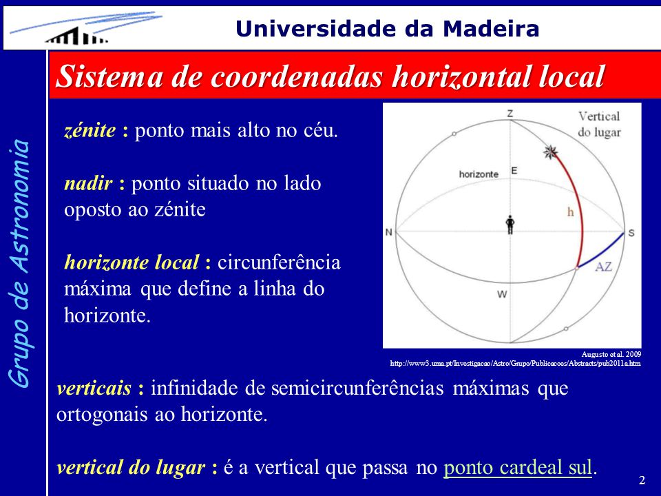 Sistema de coordenadas horizontal local