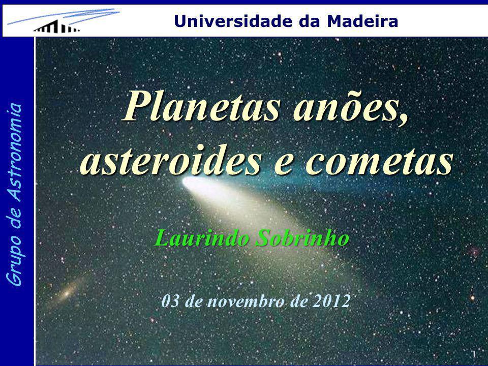 Planetas anões, asteroides e cometas