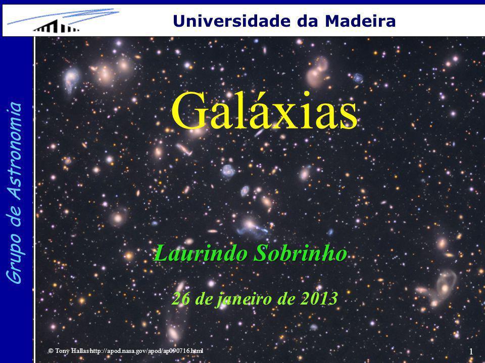 Galáxias Laurindo Sobrinho Grupo de Astronomia 26 de janeiro de 2013