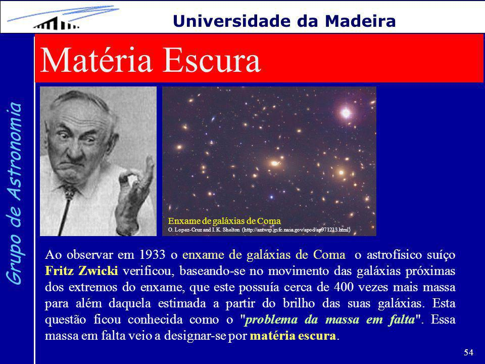 Matéria Escura Grupo de Astronomia Universidade da Madeira