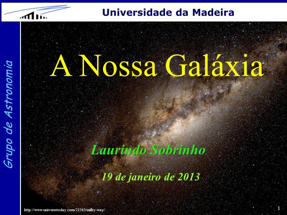 A Nossa Galáxia Laurindo Sobrinho Grupo de Astronomia