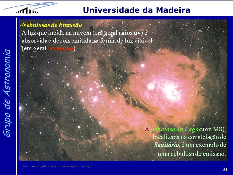 Grupo de Astronomia Universidade da Madeira Nebulosas de Emissão