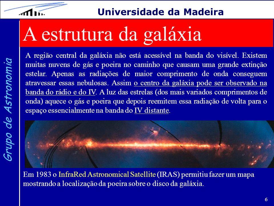 A estrutura da galáxia Grupo de Astronomia Universidade da Madeira