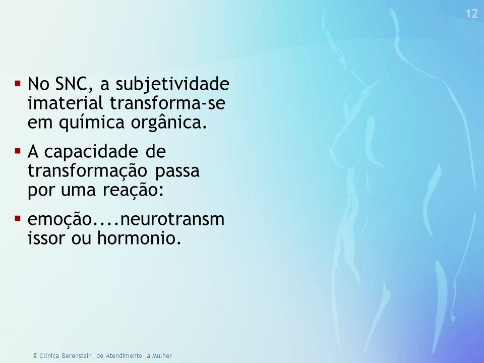 No SNC, a subjetividade imaterial transforma-se em química orgânica.