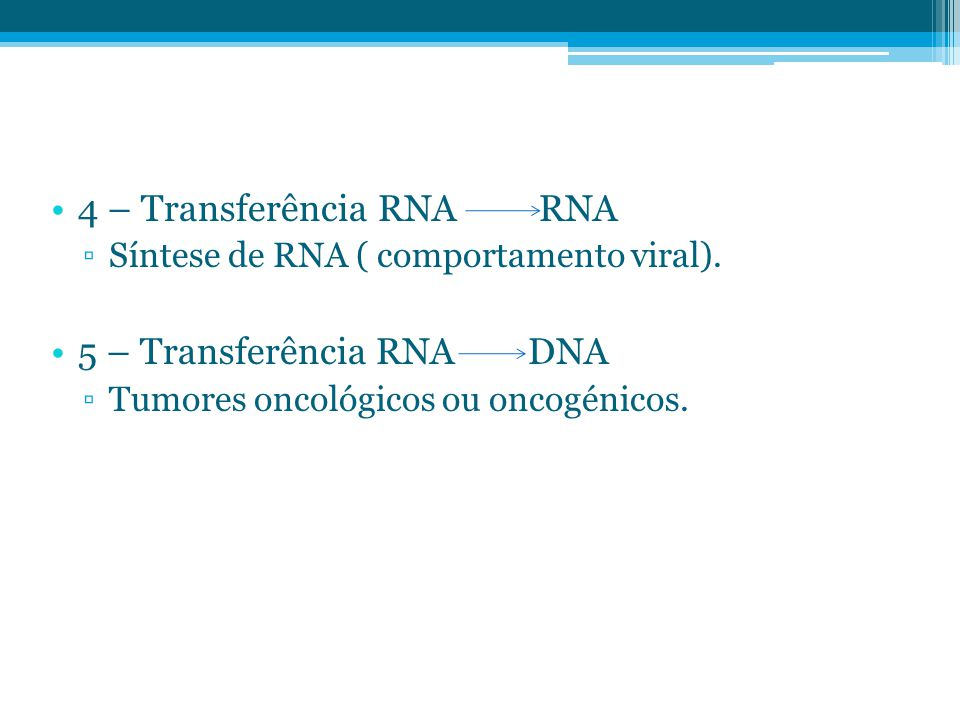 4 – Transferência RNA RNA
