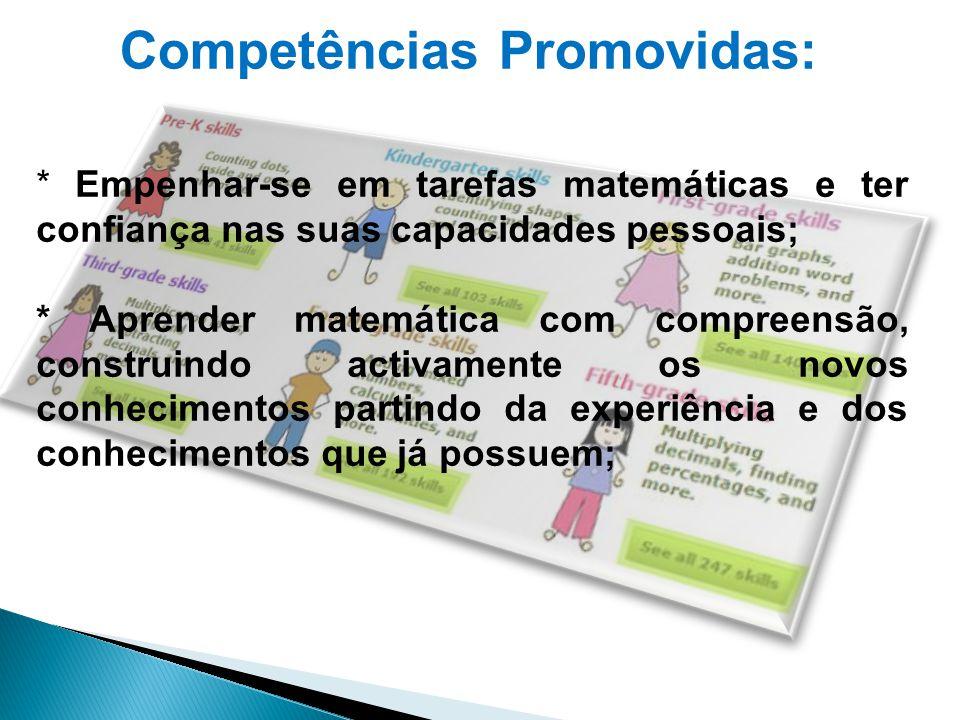 Competências Promovidas: