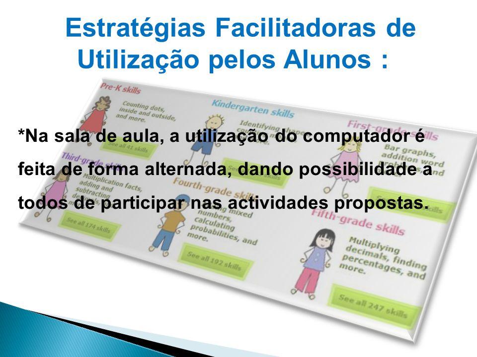 Estratégias Facilitadoras de Utilização pelos Alunos :