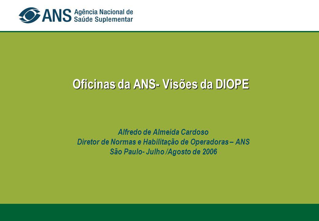 Oficinas da ANS- Visões da DIOPE