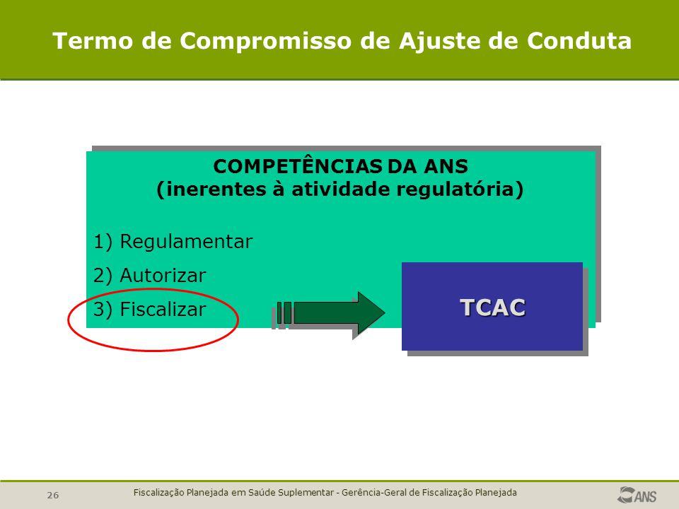 Termo de Compromisso de Ajuste de Conduta TCAC