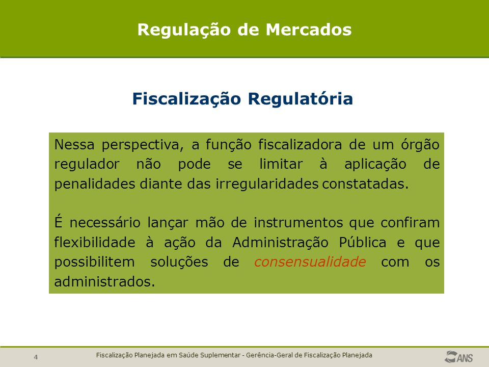 Fiscalização Regulatória
