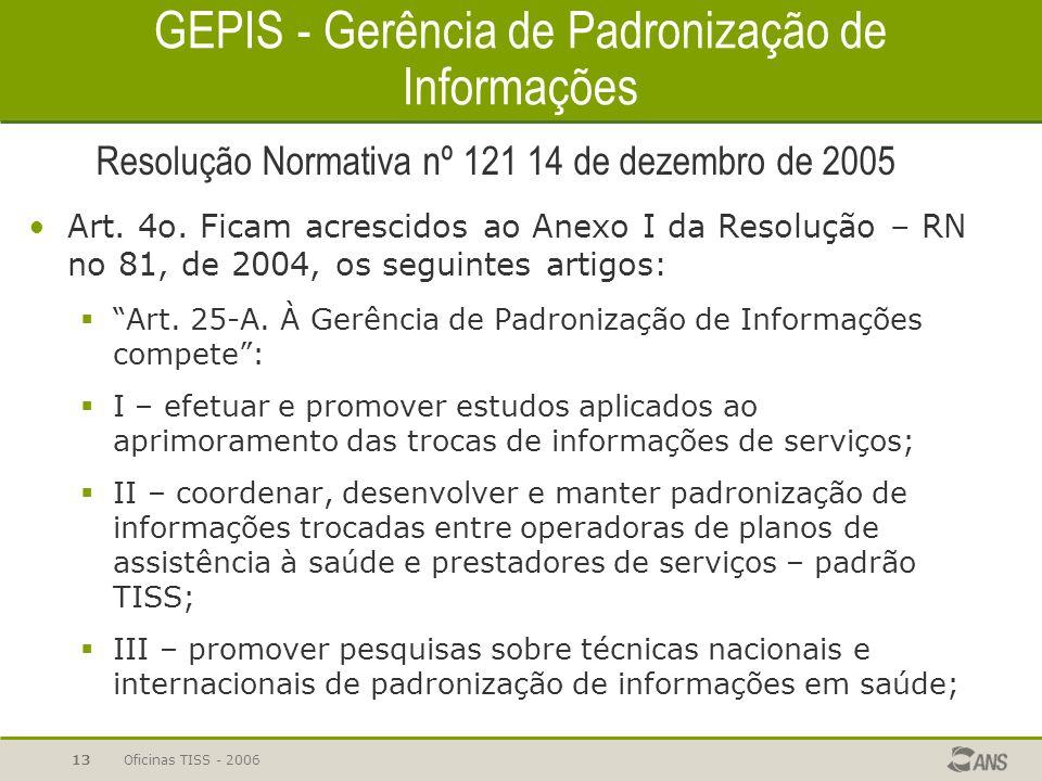 GEPIS - Gerência de Padronização de Informações