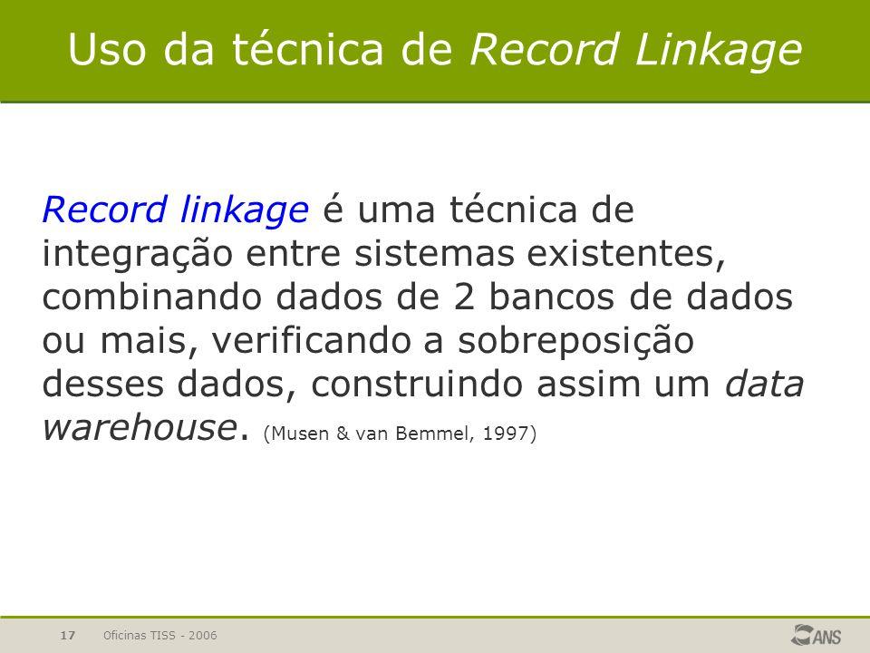 Uso da técnica de Record Linkage