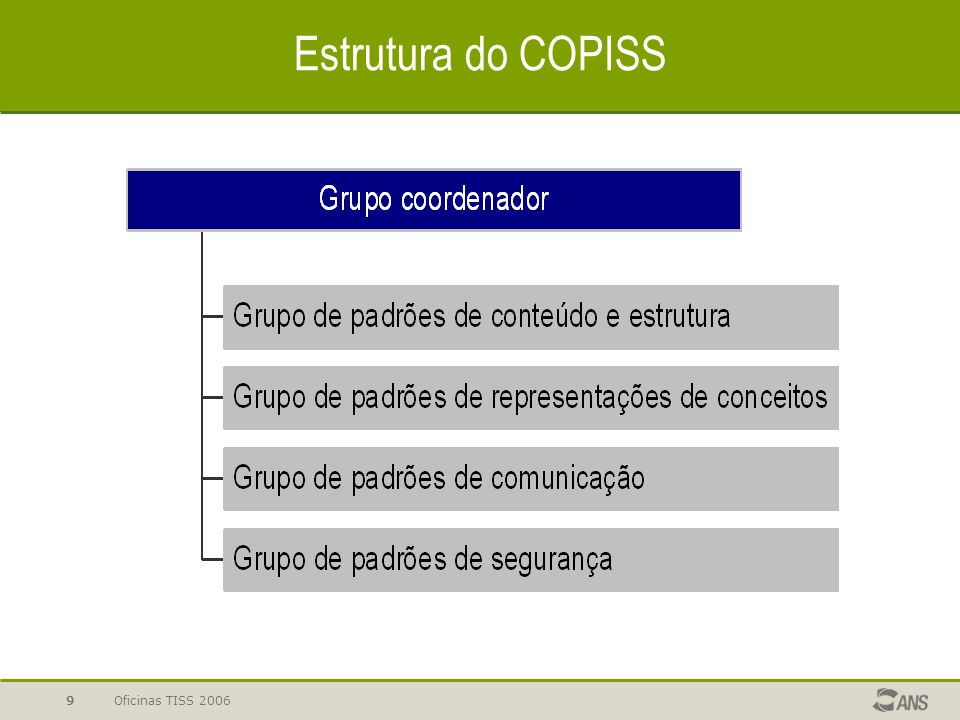 Estrutura do COPISS Oficinas TISS 2006