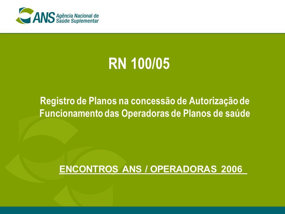 ENCONTROS ANS / OPERADORAS 2006