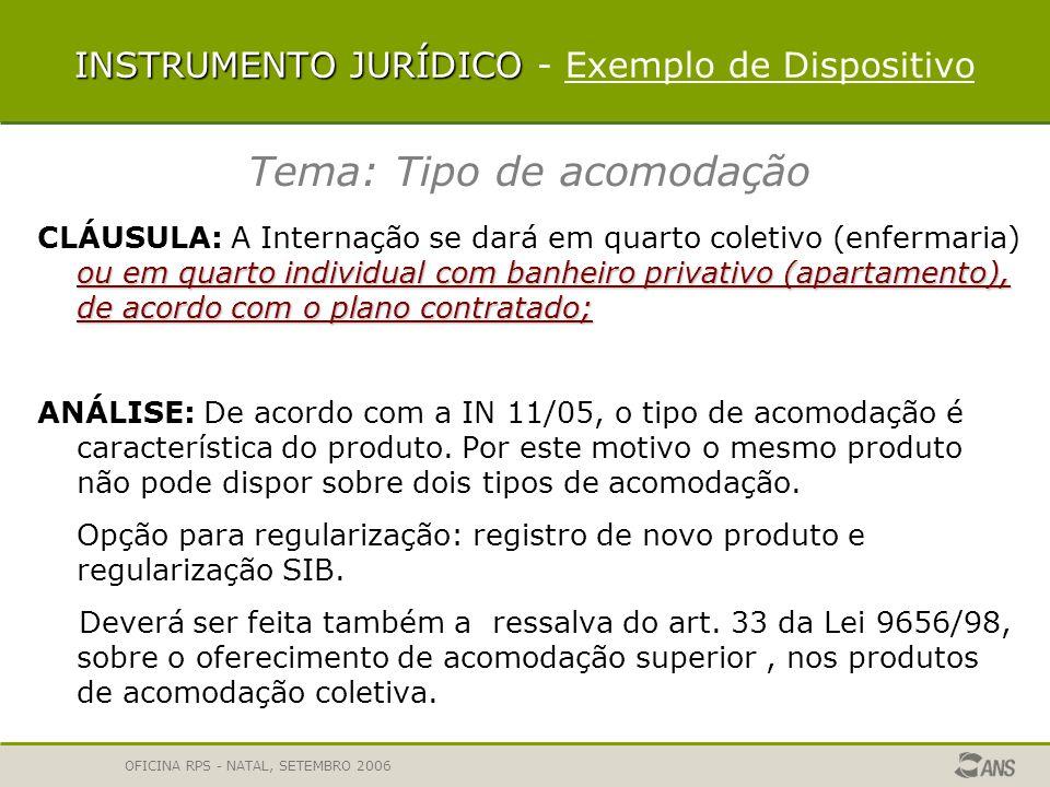 INSTRUMENTO JURÍDICO - Exemplo de Dispositivo