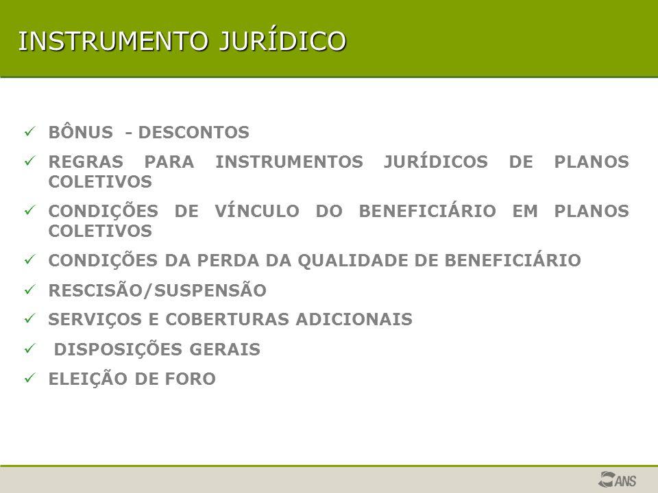INSTRUMENTO JURÍDICO BÔNUS - DESCONTOS