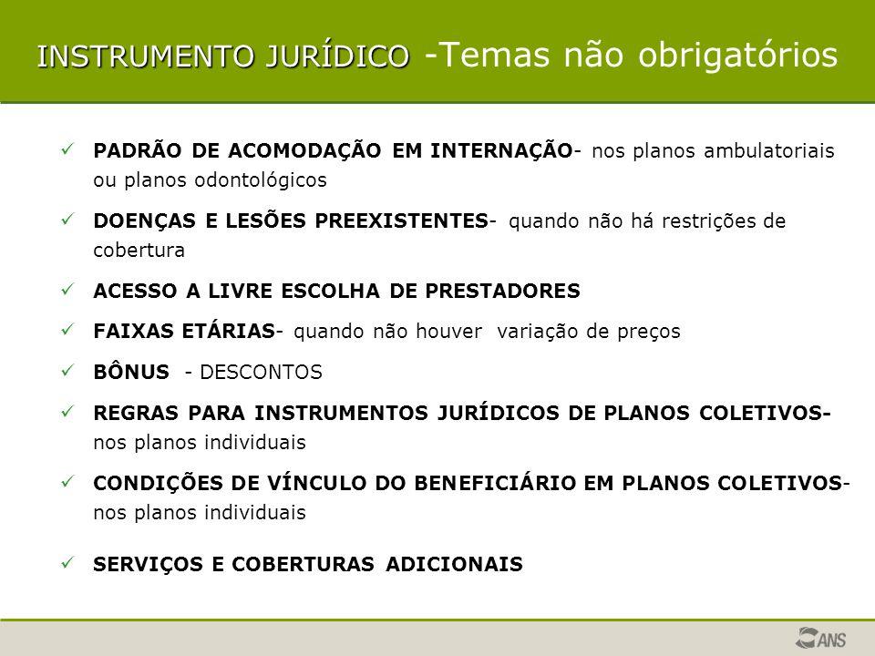 INSTRUMENTO JURÍDICO -Temas não obrigatórios