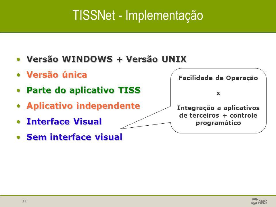 TISSNet - Implementação