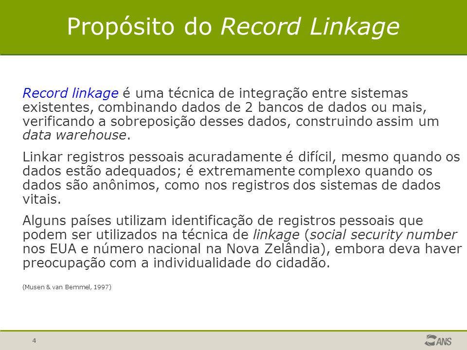 Propósito do Record Linkage