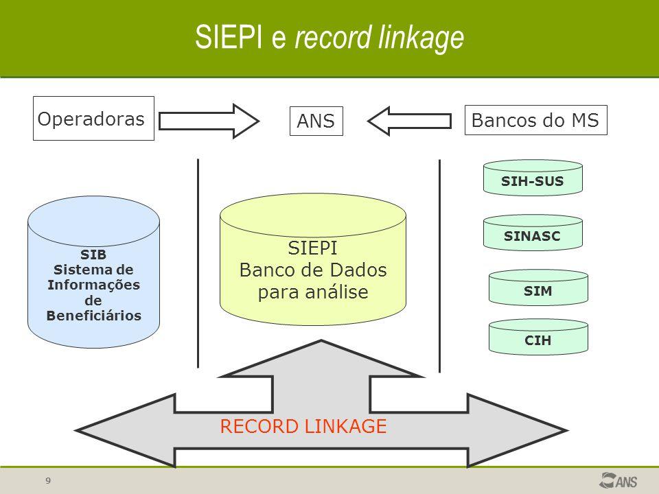 SIEPI Banco de Dados para análise