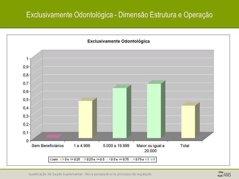 Exclusivamente Odontológica - Dimensão Estrutura e Operação