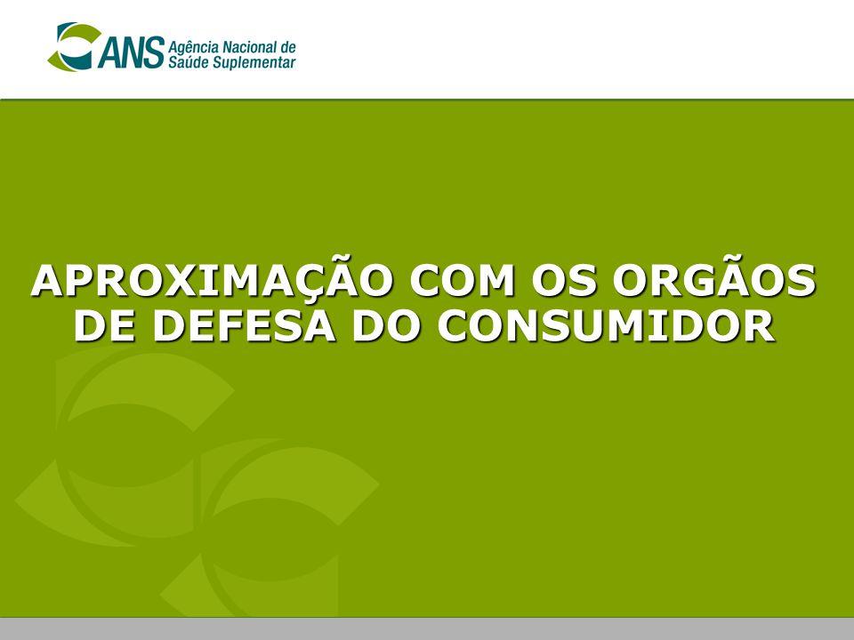 APROXIMAÇÃO COM OS ORGÃOS DE DEFESA DO CONSUMIDOR
